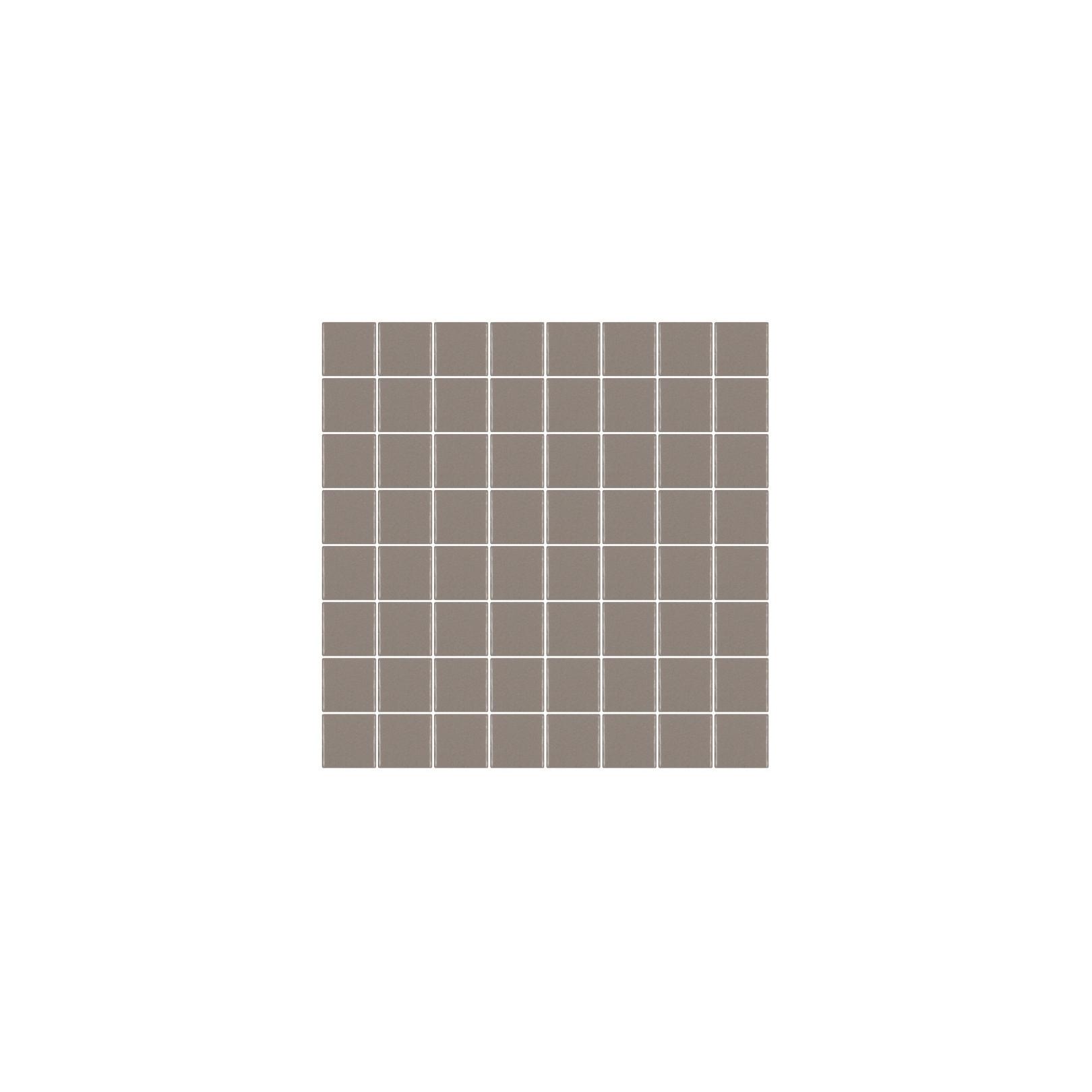 Mosaïque Unicolor carré 3,8x3,8cm 324 taupe mat ou brillant ou antidérapant sur trame nylon 32x32cm