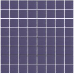 Mosaïque Unicolor carré 3,8x3,8cm 308 violet mauve mat ou brillant ou antidérapant sur trame nylon 32x32cm