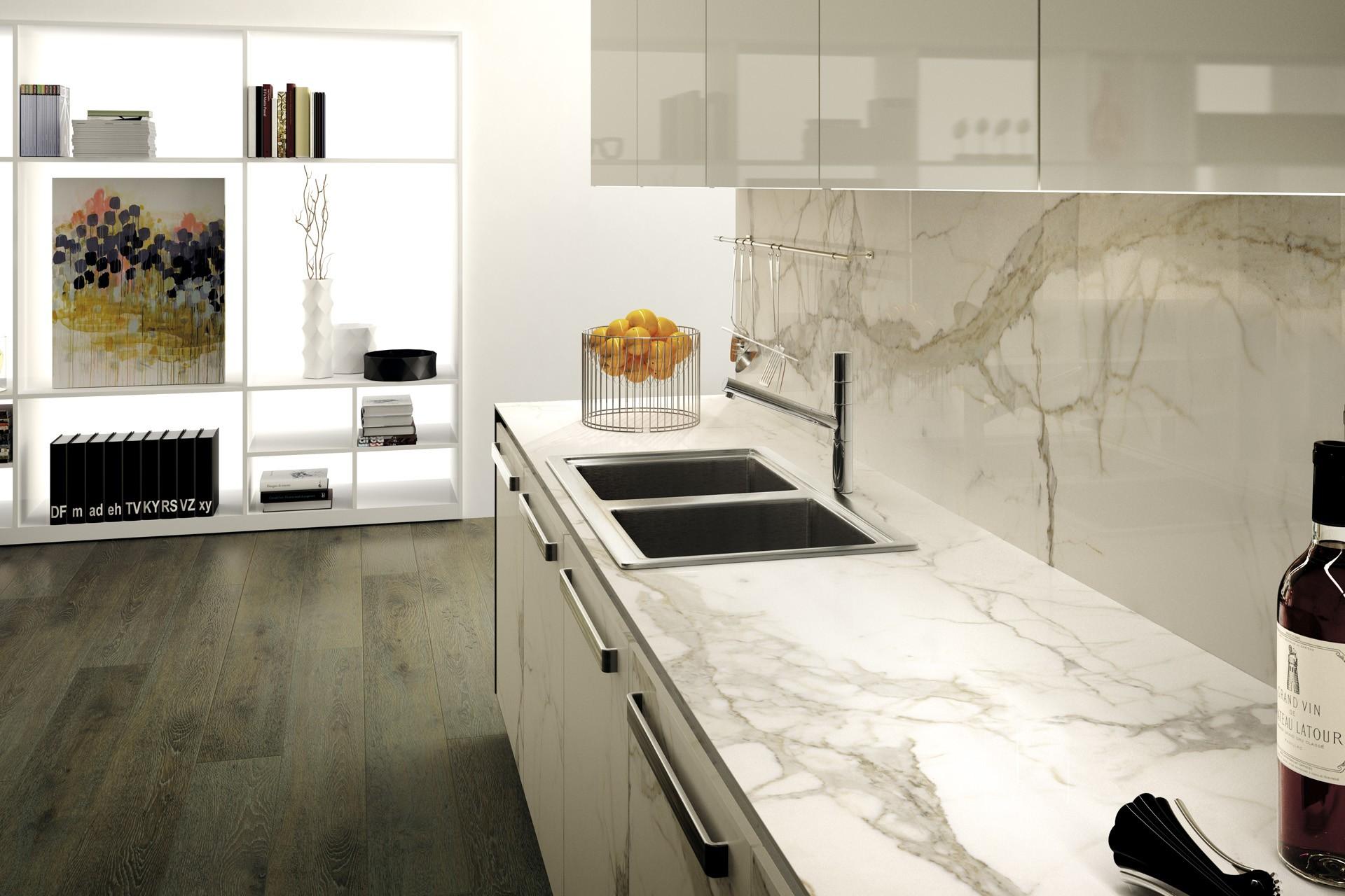 Carrelage Gres Cerame Effet Marbre Mf Calacatta Rectifie Casalux Home Design