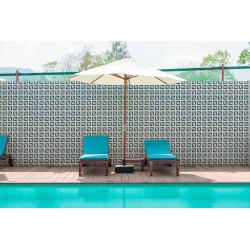 Mosaïque 2,5x2,5cm motif géométrique Palm Springs Palm (4 couleurs)