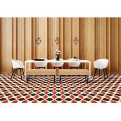 Mosaïque 2,5x2,5cm motif géométrique Palm Springs Sunrise (2 couleurs)