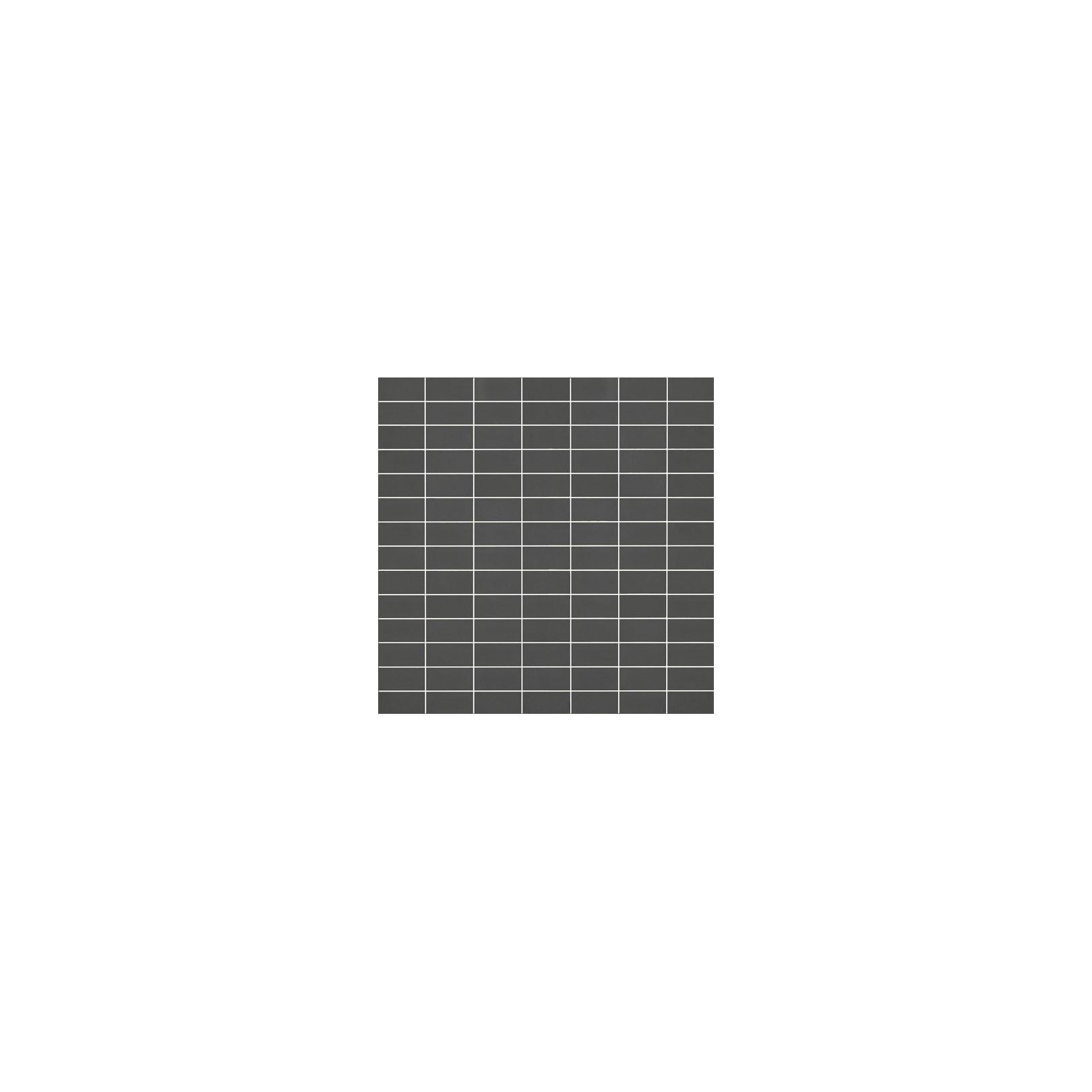 Mosaïque Doppel rectangle 4.6x2.3cm anthracite 564 sur trame sur trame nylon 33,2x33,2cm