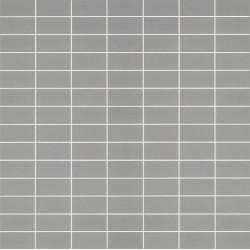 Mosaïque Doppel rectangle 4.6x2.3cm gris5 70 sur trame nylon 33,2x33,2cm