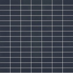 Mosaïque Doppel rectangle 4.6x2.3cm bleu militaire 573 sur trame nylon 33,2x33,2cm