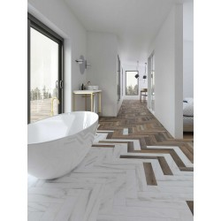 Carrelage grès cérame Love Affairs Caracata Strip 50x10cm effet marbre
