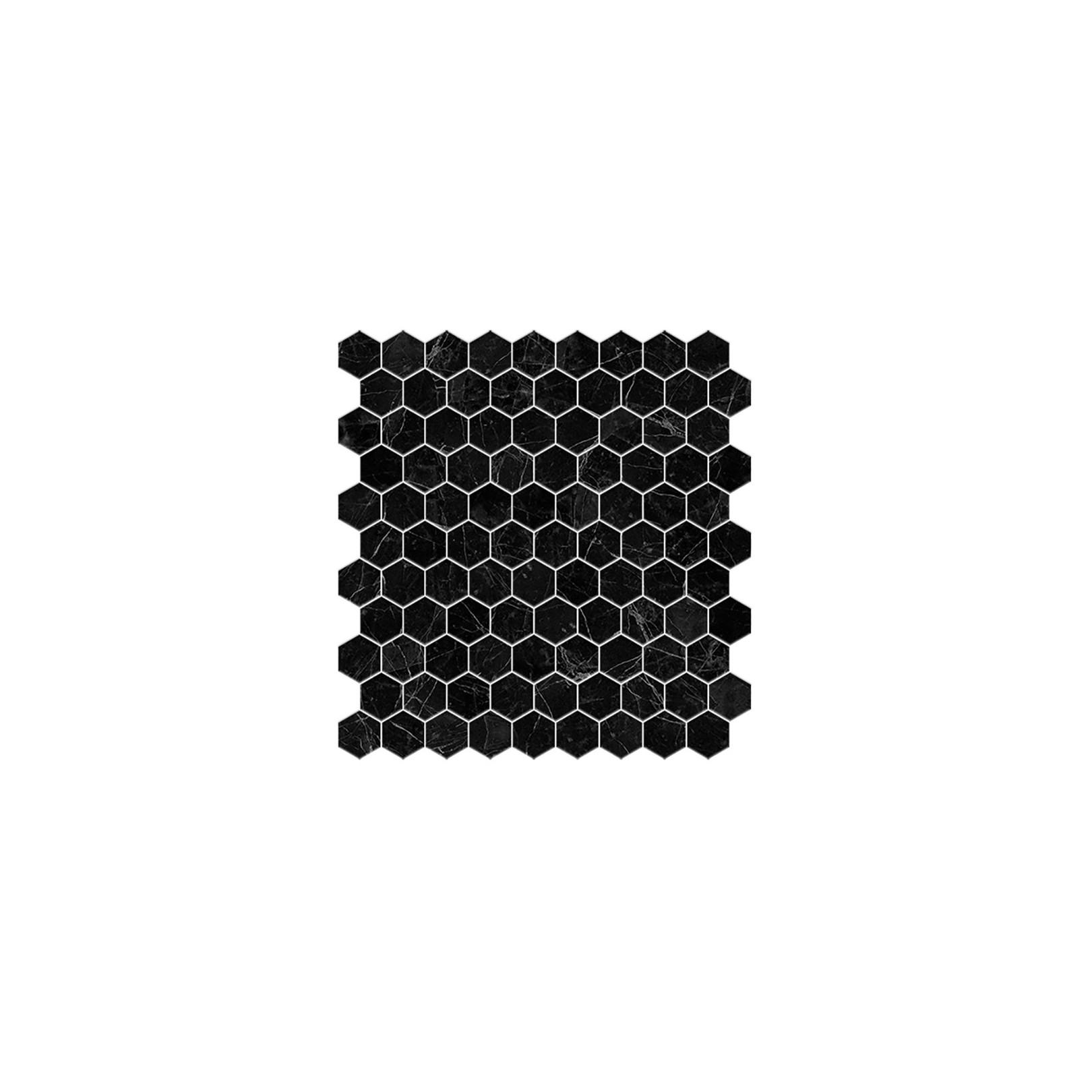 Mosaik Mosa/ïque en c/éramique Hexagon noir blanc mat pour carrelage de cuisine MOS11A-0103