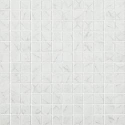 Mosaïque 2,5x2,5cm Carrara Grey mat sur trame nylon 31,7x31,7cm