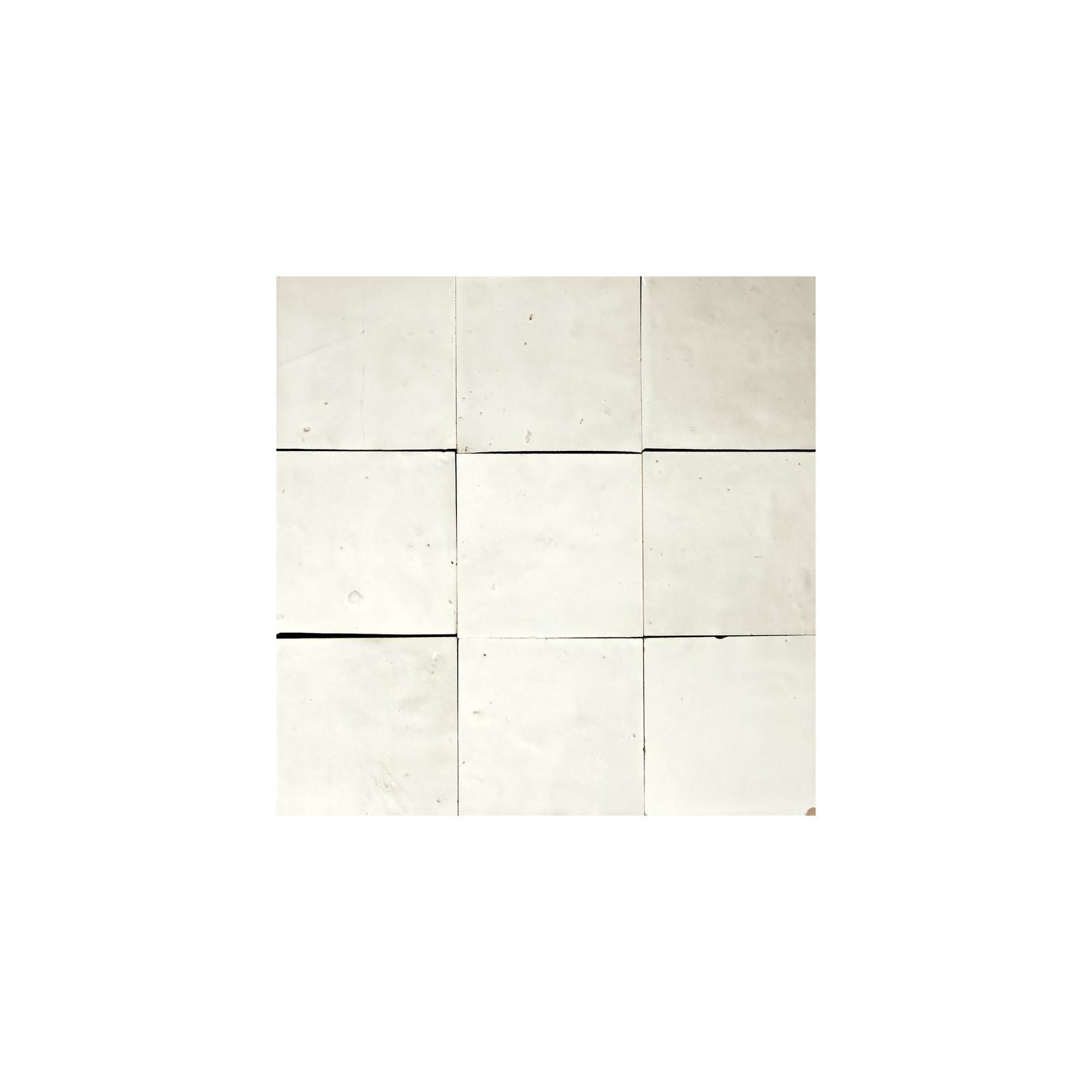 Carrelage mural Zellige manuelle Blanc Neige 1