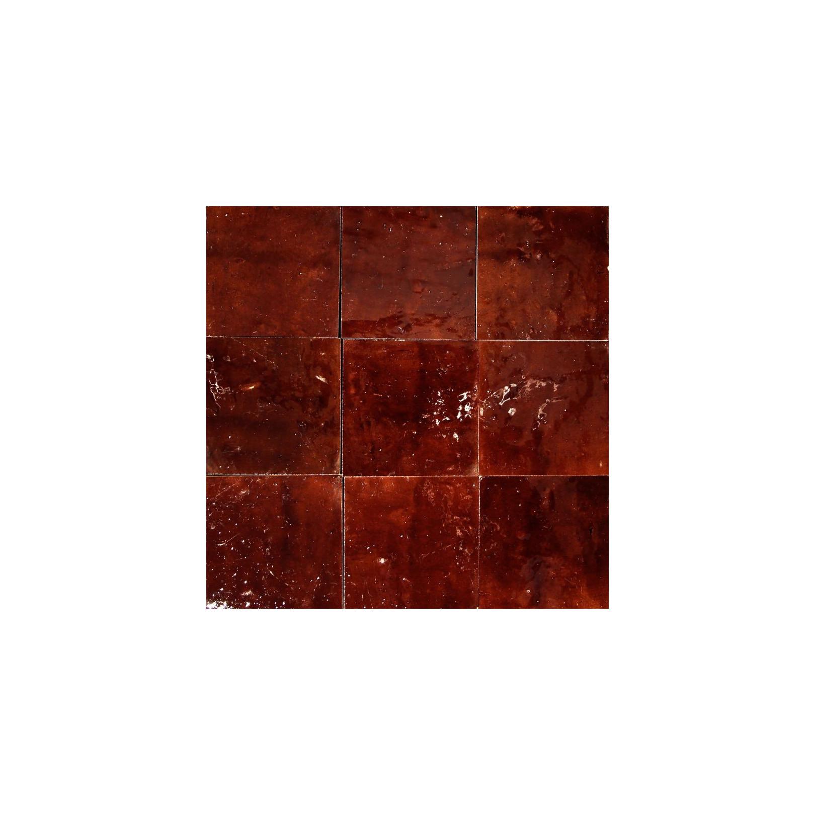 Carrelage mural Zellige manuelle Marron foncé 7