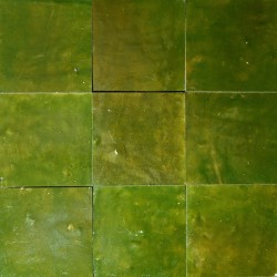 Carrelage mural Zellige manuelle Vert imperial 23