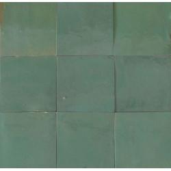 Carrelage mural Zellige manuelle Vert d'eau 15