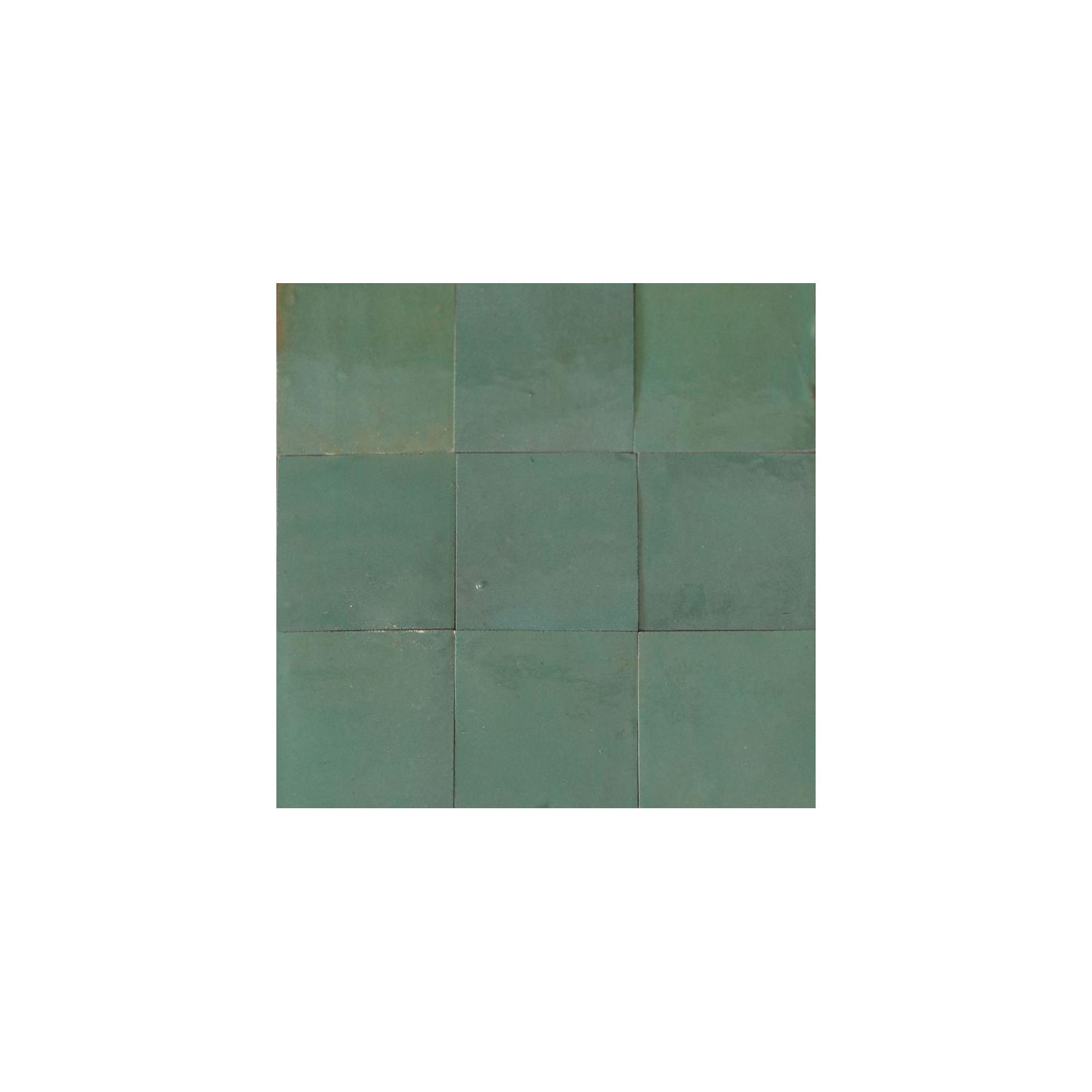 Carrelage mural Zellige manuel Vert d\'eau 15 - CasaLux Home Design