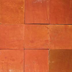 Carrelage mural Zellige manuelle Terre rouge 30