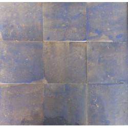 Carrelage mural Zellige manuelle Terre bleu 31