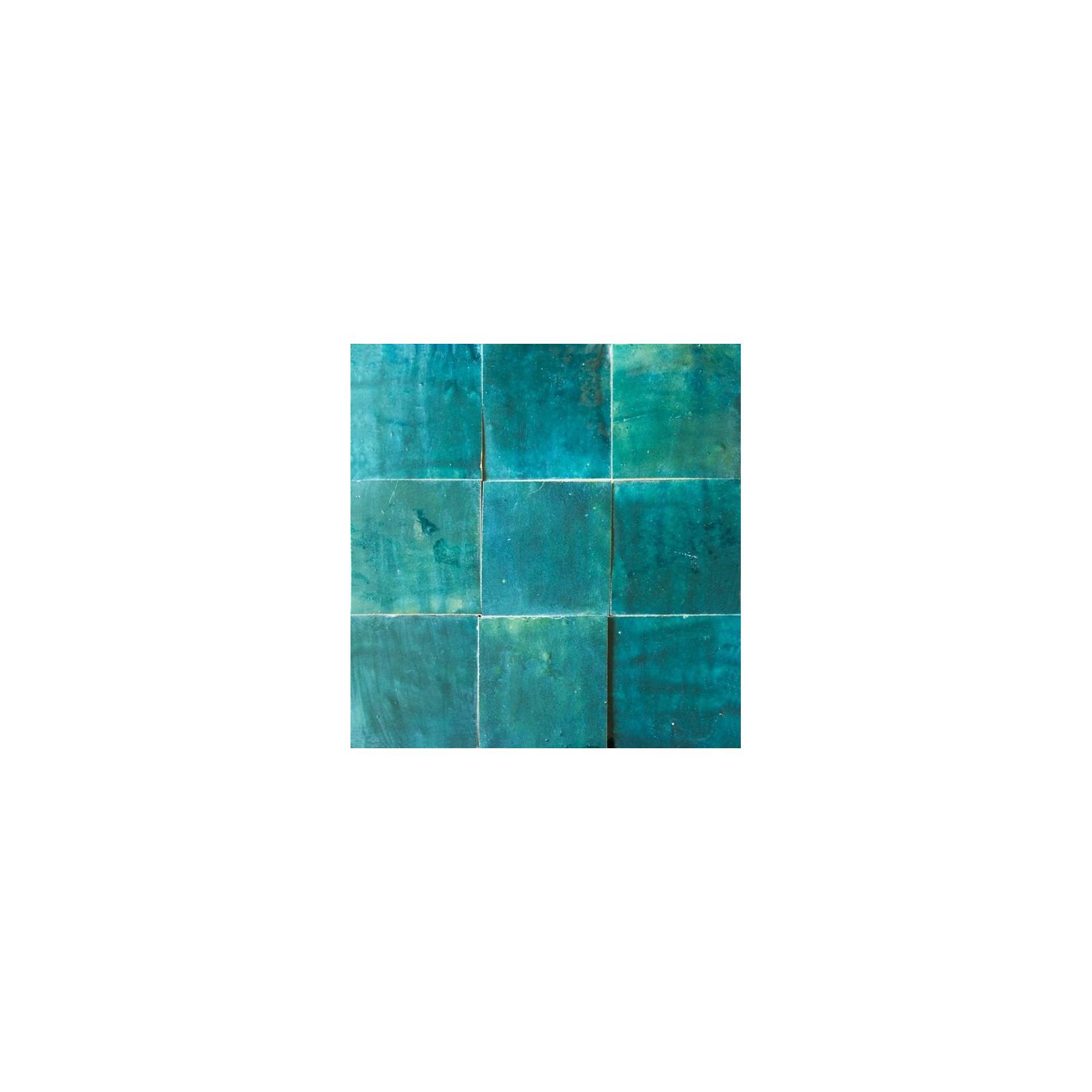 Carrelage mural Zellige manuelle Bleu pétrol 59