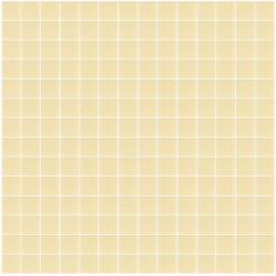 Mosaïque Unicolor 2,3x2,3cm sable 332 mat ou brillant ou antidérapant sur trame nylon 33,3x33,3cm