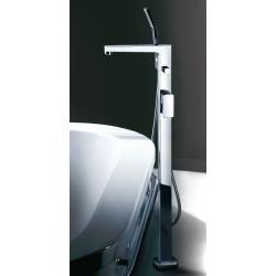 Robinetterie baignoire 1201162+0201161, sur pied, mitigeur, inverseur, douchette et robinet baignoire