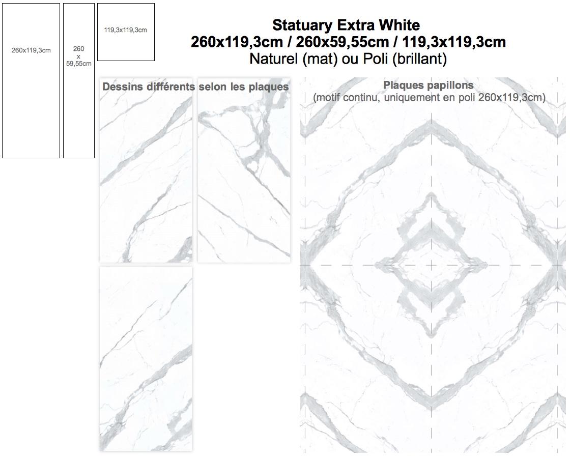 Carrelage Gres Cerame Effet Marbre Statuary Extra White